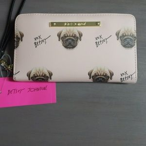 "NWT - Betsey Johnson ""Pug"" Wallet"